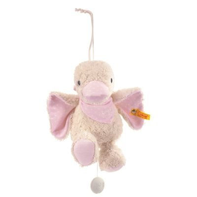 Steiff 238376 - Schnatter-Ente Spieluhr, rosa, 23 cm