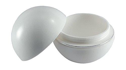 Foto de Tarros Y Botes de Plástico para aceites esenciales de viaje cosméticos Polvos Cremas pomadas grasa Pequeño Recipiente para tarros con tapa unidades 20,capacidad de 50g …