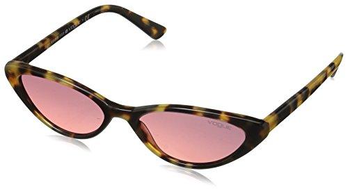 Vogue 0vo5237s 260520 52, occhiali da sole donna, giallo (brown yellow tortoise/pinkgradientviolet)