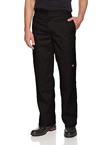 Dickies Men's Loose Fit Double Knee Twill Work Pant, Black, 34W x 36L -