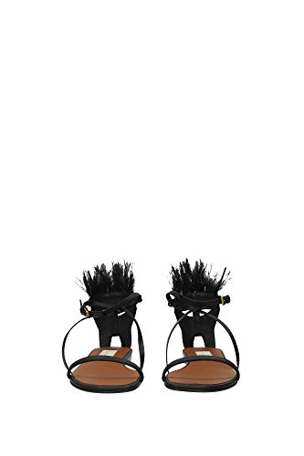 KW0S0140V0J186 Valentino Garavani Sandale Femme Cuir Noir Noir