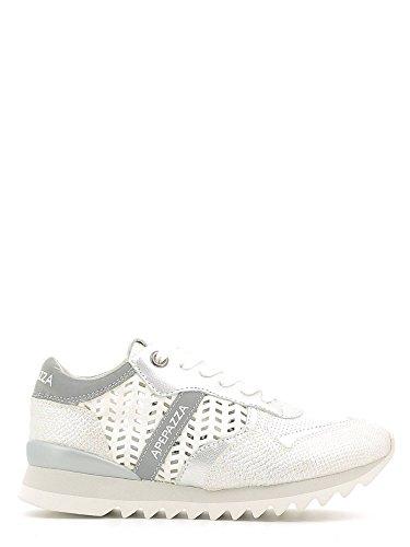 Apepazza DLY05 materialmix Dafne sneakers bianche e argento con rialzo interno n° 37