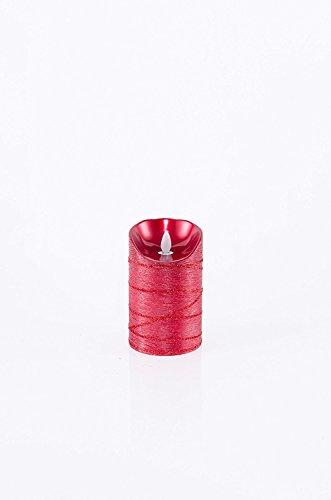 Velas de bater¨ªa sin llama de cera roja de 5 pulgadas con temporizador y remoto