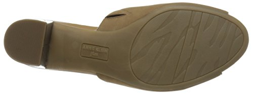 Anne Klein Carena Femmes Cuir Mules Dark Natural