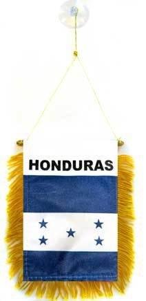 AZ FLAG Fanion Honduras 15x10cm - Mini Drapeau hondurien 10 x 15 cm spécial Voiture - Bannière