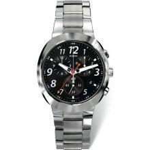 Rado R15937163d-star orologio da uomo–quadrante nero cassa in acciaio movimento al quarzo