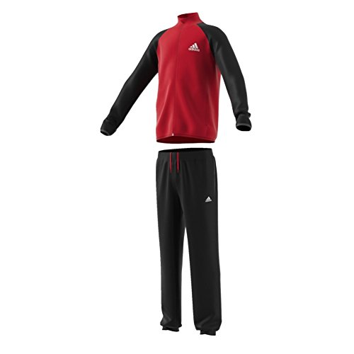adidas Kinder Sport Freizeit Trainingsanzug Entry Tracksuit Closed Ham rot sw, Größe:176