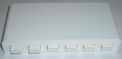 Phoenix Gold HRZS-WHT, 6 Zonen Schalter benötigt RM 6, weiss -
