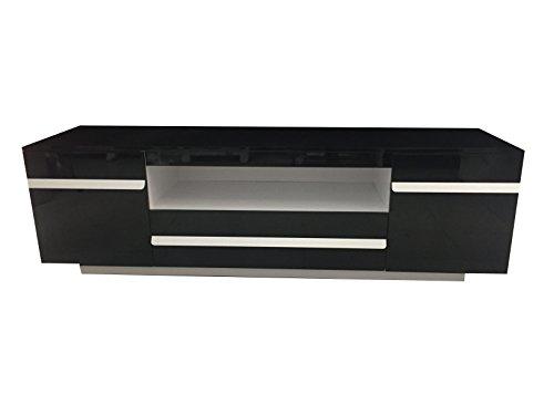 Accessori Per Soggiorno Moderno.Mobile Porta Tv Nero Design Moderno Laccato Salotto Soggiorno 154 5