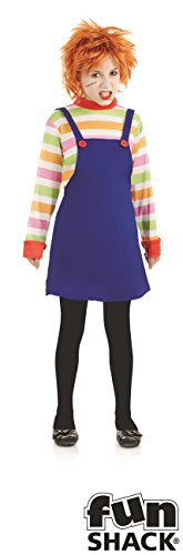 Evil Dummy Girl's Costume Scary Halloween Fancy - Girl Halloween Scary