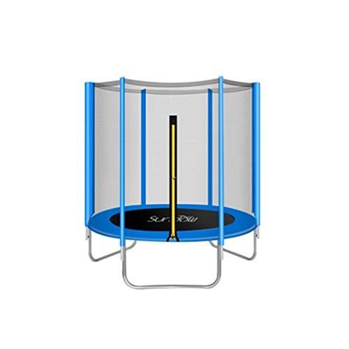 WZLDP 6-Fuß-Kinder-Trampolin für Zuhause mit Sprungkissen-Sicherheitsnetzabdeckung Faltbares Fitness-Trampolin (Color : Blue)