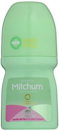 Mitchum Invisible Roll-On, Powder Fresh, 1.7 oz by Almay