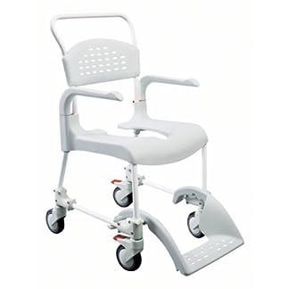 Etac–Ducha con inodoro y silla Clean verde menta 49cm Alto, de baño ayudas