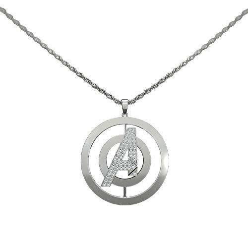 Nexthops Avengers Halskette Unisex Kette mit Anhänger Silber aus Zinklegierung Drehbar-Design Cosplay Zubehör