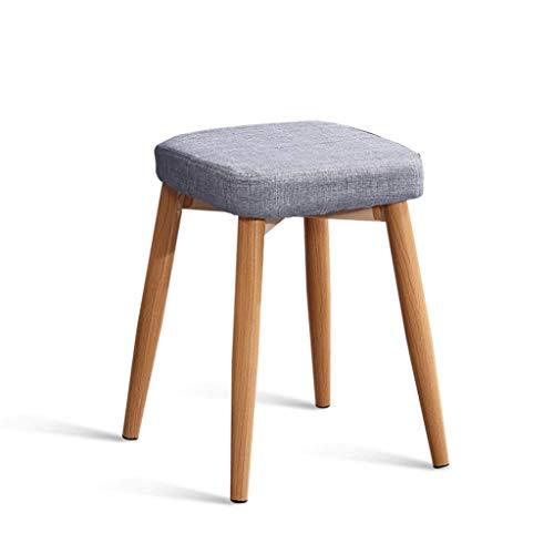 STOOL Quadratische kleine Bank-einfacher europäischer Gewebe-sitzender Schemel-Wohnzimmer-Schlafzimmer, das Stuhl-Studie lernend, der Schemel lernt, kann Erwachsener Osmanehocker überlagert Werden (Wohnzimmer-gewebe-stühle)
