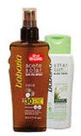 Babaria Coconut Bronzer Oil SPF30 + Aftersun Calming Lotion - 1 Pack