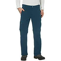 VAUDE Men's Farley Pantalon Stretch T-Shirt Zip Pants II S Bleu pétrole foncé