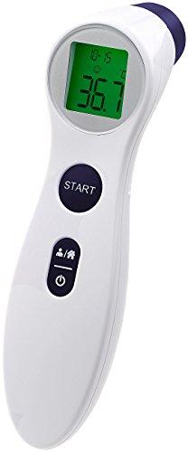 newgen medicals Stirnthermometer: Medizinisches Infrarot-Fieberthermometer für kontaktlose Stirn-Messung (Infrarotthermometer)