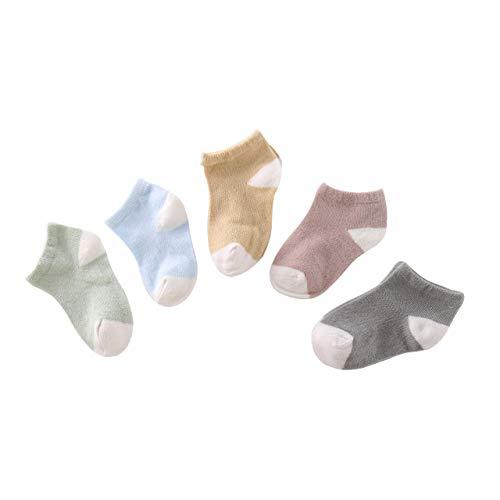 Schwarz Und Rot Rüschen-socken (DEBAIJIA 5 Paar Baby Low Cut Ankle Socken Thin Grip Kurze Socken Boot Socken Niedliche Cartoon-Tiermuster Casual Weich Süß BequemFür Kleinkinder Jungen Mädchen 0-17 Jahre alt)