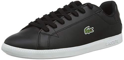 Lacoste Herren Graduate BL 1 SMA Sneaker, Schwarz (Black/White), 42 EU