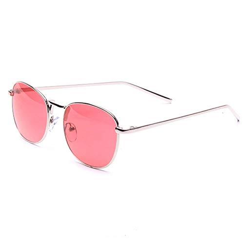 YOGER Sonnenbrillen Chic Damen Harajuku Ozean Sonnenbrille Frauen Klare Gläser Candy Rot Farbige Sonnenbrille Frau Metallrahmen Eyewear Weibliche Shades