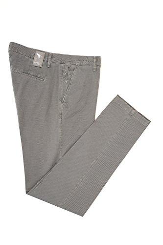 Vincent Trade - Pantalone Uomo, Pantalone tasca america e tasche a filetto sul retro vestibilità slim Grigio