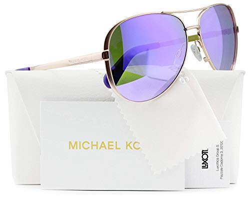 Michael Kors MK5004 Chelsea Flieger-Sonnenbrille Rose Gold w/Mirror (1003 / 4V) MK 5004 10034V 59mm Authentic Lila
