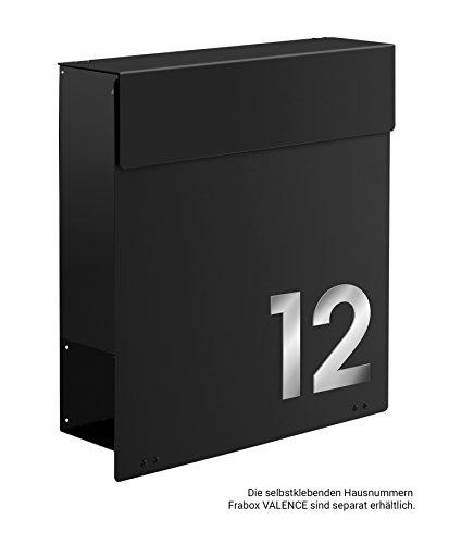 Frabox Design Briefkasten NAMUR Stahl lackiert, RAL 7016 Anthrazitgrau - 8