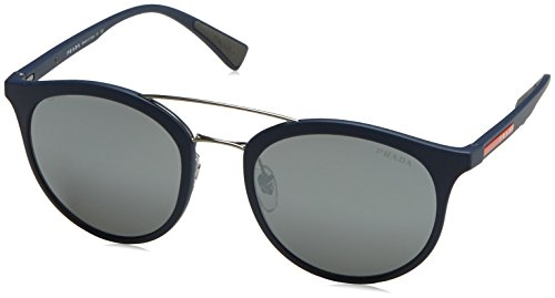 Prada Sport Herren Sonnenbrille 0PS04RS TFY7W1, Blau (Bluette Rubber/Grey Silver), 54