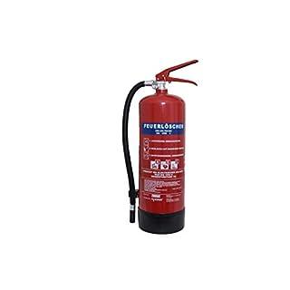 Feuerlöscher 6kg ABC Pulverlöscher EN3 mit Manometer, Sicherheitsventil + Standfuß, 10 LE ANDRIS®