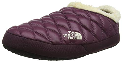The North Face Thermoball Faux Fur Iv Tent, Damen Pantoletten, Braun (Shiny Fig/Vintage White 5ug), 42 EU (9 UK)