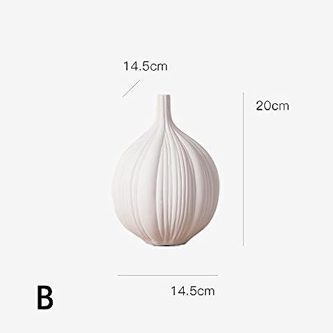 Vasi di ceramica moderna di colore bianco