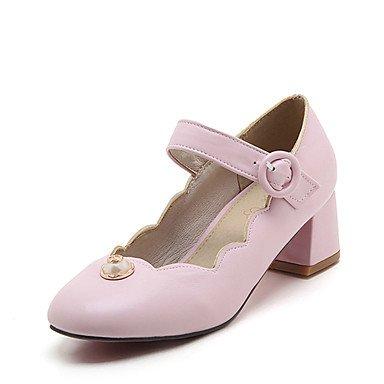 LFNLYX Donna Sandali Primavera Estate Autunno Comfort suole luce similpelle Abito casual tacco basso Chunky Heel imitazione perla BuckleBlack rosa rosso Pink