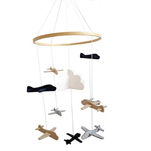 Motto.H Mobile Krippe, Baby Krippe Mobile Spielzeug, Sternenhimmel/Flugzeug und Cloud Kinderzimmer Dekoration Krippe Mobile Arm, Krippe Mobile für Jungen und Mädchen - Eine Baby-krippe