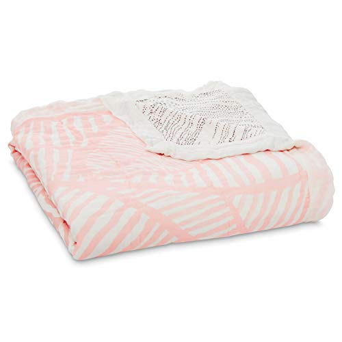 aden + anais 9329G silky soft dream blanket - island getaway - leaves, mehrfarbig