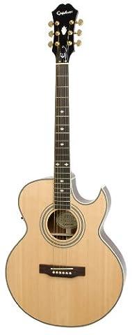 Epiphone PR5-E Thin-Body Akustische/Elektrische Gitarre (Florentine Cutaway, Mahagoni Korpus, Fichtendecke, 25.5 Mensur)