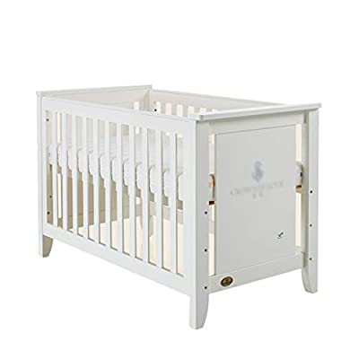 DUWEN-Cot bed Solid Wood Baby Cot European Mosaic Bed Game Bed Multifunctional Children's Bed