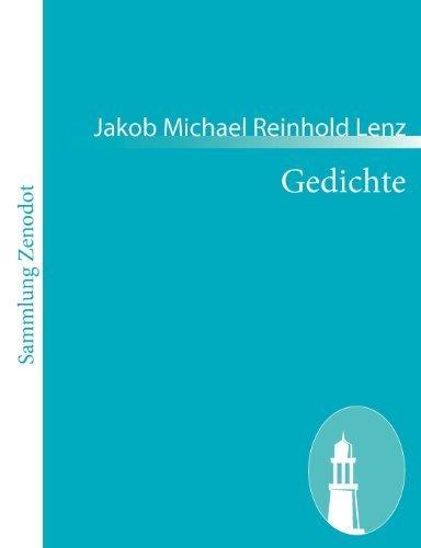 Gedichte (German Edition) by Jakob Michael Reinhold Lenz (2010-12-06)