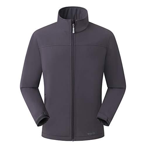 Amazon Marke: Eono Essentials Herren-Softshell-Jacke, Übergangsjacke - Large, Dunkelgrau Tag Soft Shell