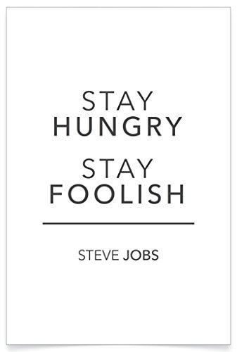 PosterHouse24 PH107A2 Steve Jobs Apple Poster Stay grau 235g/qm Premium Satin Fotopapier 42 x 61 cm
