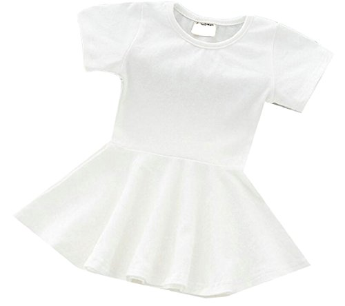 security Little Girl Cotton Round Neck A-Line Casual Mini Party Dress