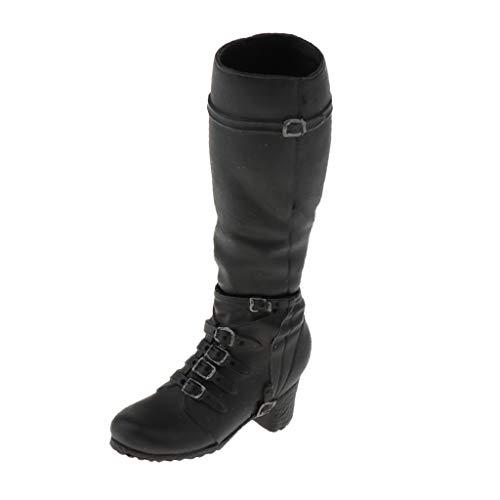 sharprepublic 1/6 Scale 18X02 Female Schuhe Combat Boots Für 12 '' Action Figure Body - Schwarz (Größentabelle Boot Combat)
