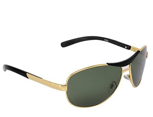 Poloport Rectangular Men\'s Sunglasses(Avex90001|Green)