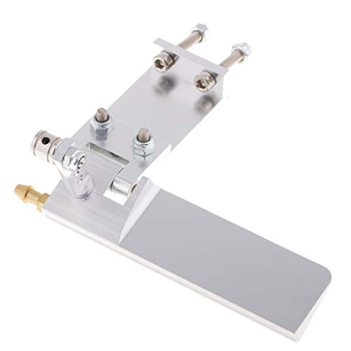 B Blesiya 75 mm Wasserkühlung Ruder für 40-60cm RC Boot - Silber