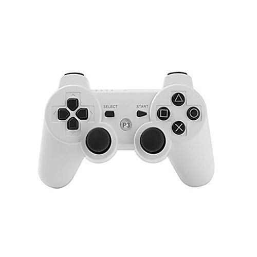 Wireless Controller für PS3,Bluetooth Dual Vibration Gamepad Sixaixs(6-Achsen) Joystick für Sony PS3 Playstation 3,White