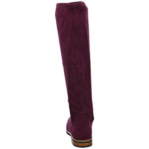 Caprice25507 - Stivaletti Donna Rosso (Bordeaux Stre.)