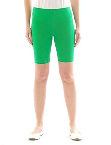 Kinder Shorts Sport Pants Sportshorts kurze Leggings aus Baumwolle Jungen Mädchen grün 152