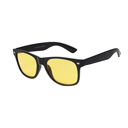 ASVP Shop Brille für Night Sight Nacht Fahren Nachtsicht, ideal Blendschutz Brille für Angeln, Radfahren und Autofahren