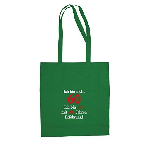 Ich bin nicht 60 - Stofftasche / Beutel Grün