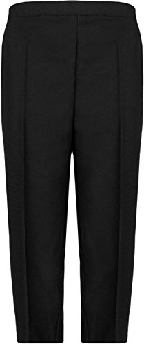 WearAll Ladies 3/4 Elasticated Trousers Womens Shorts Pants 12-24